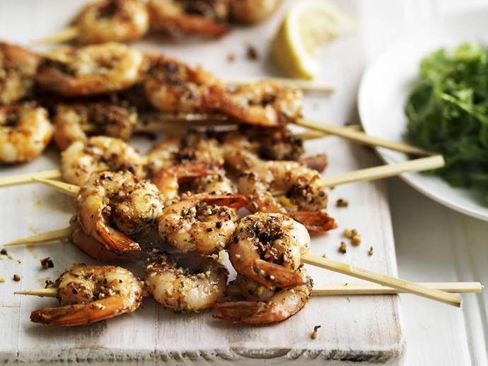 "**[Dukkah prawn skewers recipe](https://www.womensweeklyfood.com.au/recipes/dukkah-prawn-skewers-7432|target=""_blank"")**"