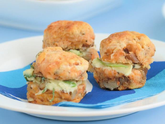 "**[Kumara, blue cheese and walnut scones](https://www.womensweeklyfood.com.au/recipes/kumara-blue-cheese-and-walnut-scones-7480|target=""_blank"")**"