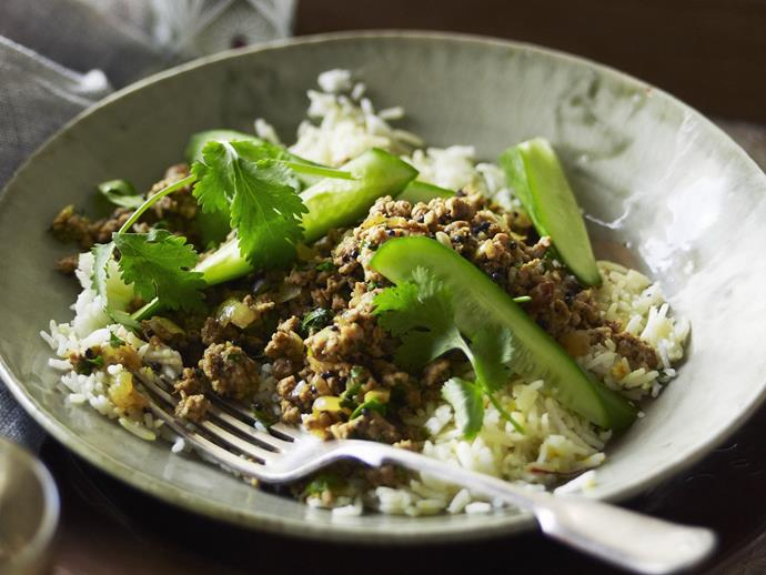 "This dry, fragrant [Nepalese curry](https://www.womensweeklyfood.com.au/recipes/nepalese-pork-mince-curry-14817|target=""_blank""), traditionally served with steamed rice and lime wedges, is one of this remote Himalayan country's most popular meat dishes."
