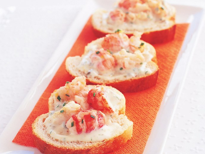 yabbies with remoulade on baguette