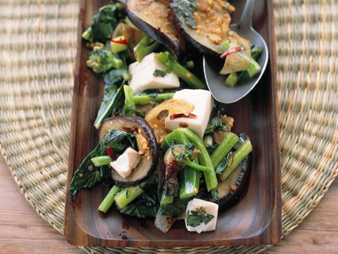 "**[Stir-fried eggplant and tofu](https://www.womensweeklyfood.com.au/recipes/stir-fried-eggplant-and-tofu-6137|target=""_blank"")**"