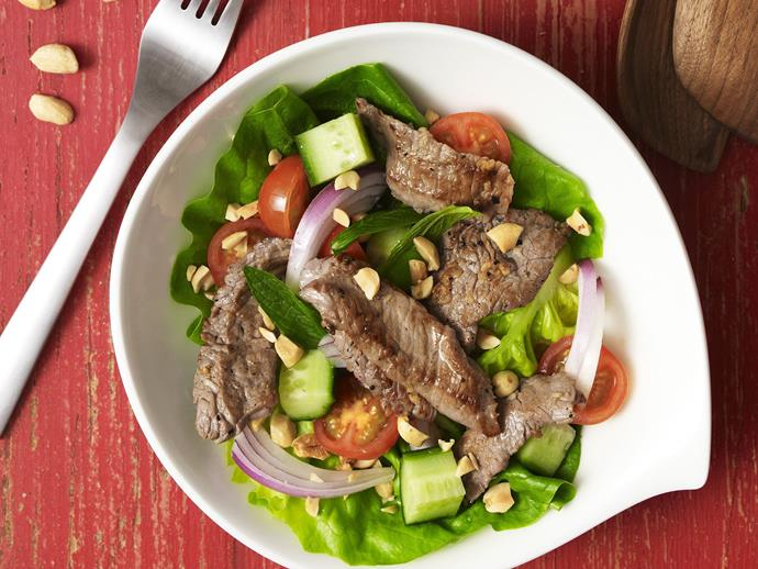 "This fresh and fragrant [Vietnamese beef salad](https://www.womensweeklyfood.com.au/recipes/vietnamese-beef-salad-14908|target=""_blank"") is perfect for a light and low-carb lunch or dinner. For best results, marinate the beef for at least 30 minutes."