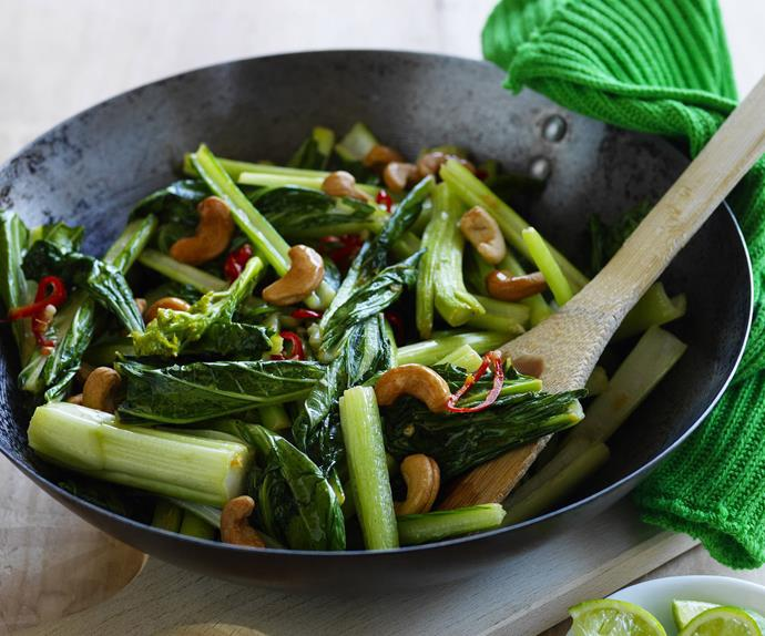 stir-fried choy sum