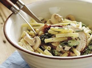 chicken and asparagus pasta salad