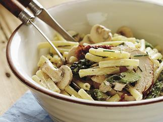 chicken and asparagus pasta salad