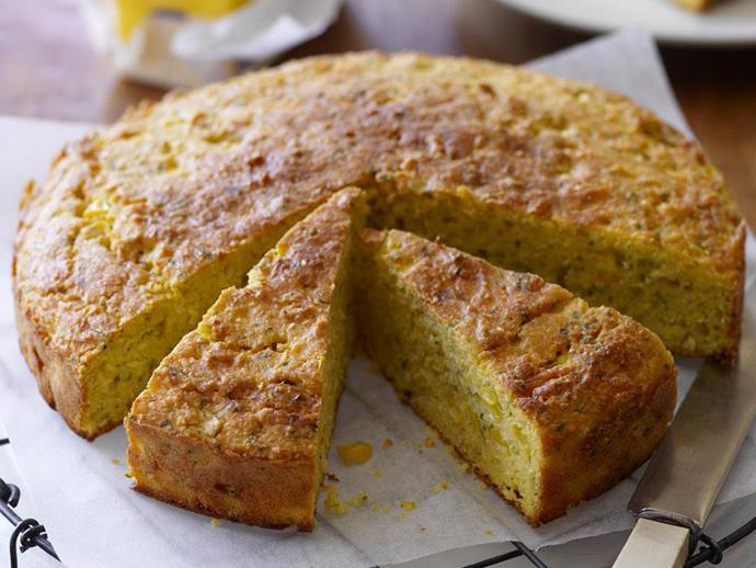 "**[Corn bread](https://www.womensweeklyfood.com.au/recipes/corn-bread-14601|target=""_blank"")**"