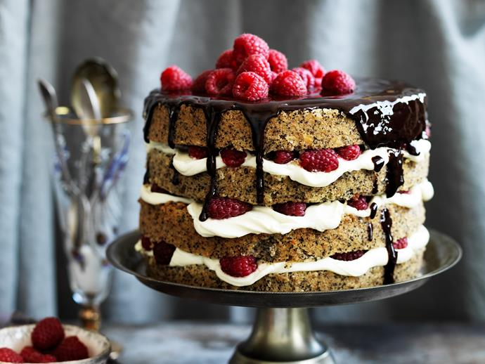 "**[Poppy seed and hazelnut cake with raspberry mascarpone recipe.](http://www.foodtolove.com.au/recipes/poppy-seed-and-hazelnut-cake-with-raspberry-mascarpone-15147|target=""_blank""