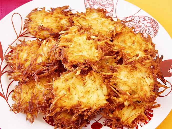 "Crispy **[hash browns](https://www.womensweeklyfood.com.au/recipes/hash-browns-13750|target=""_blank"")** make the perfect accompaniment to any breakfast or brunch."