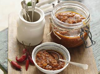 chilli coriander jam