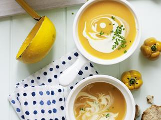 sweet potato, pumpkin and potato soup