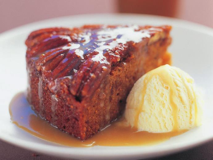 "**[Maple pecan cake](https://www.womensweeklyfood.com.au/recipes/maple-pecan-cake-5271|target=""_blank"")**"