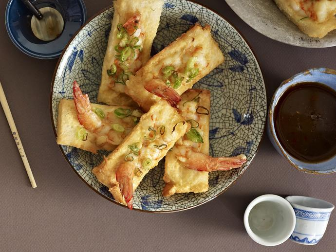 "[Prawn toasts](https://www.womensweeklyfood.com.au/recipes/prawn-toasts-12367|target=""_blank"")  Give a little nod to the finger food of the 60s while giving a more contemporary feel and taste to the classic prawn toast."