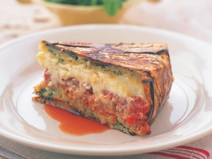 "**[Eggplant pastitsio](https://www.womensweeklyfood.com.au/recipes/eggplant-pastitsio-12455|target=""_blank"")**"
