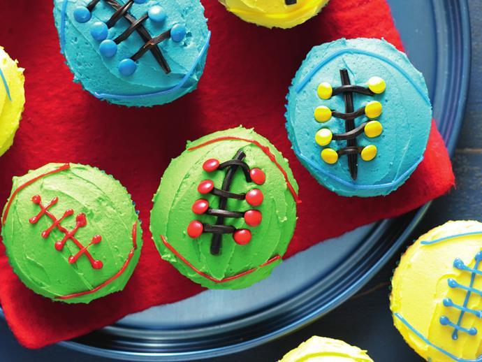 "[Vanilla footy cakes](http://www.foodtolove.com.au/recipes/vanilla-footy-cakes-21426|target=""_blank"")"