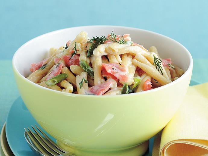 """**[Pasta with smoked salmon](https://www.womensweeklyfood.com.au/recipes/pasta-with-smoked-salmon-15540