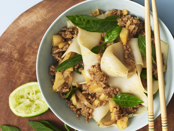 "**[Thai pork mince](https://www.womensweeklyfood.com.au/recipes/thai-pork-mince-11757|target=""_blank"")**"