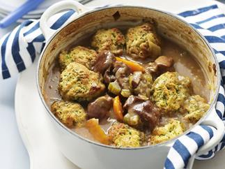 lamb casserole with herb dumplings