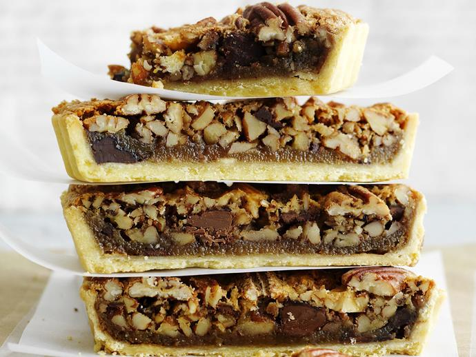 """**[Triple-choc pecan pie](https://www.womensweeklyfood.com.au/recipes/triple-choc-pecan-pie-11945