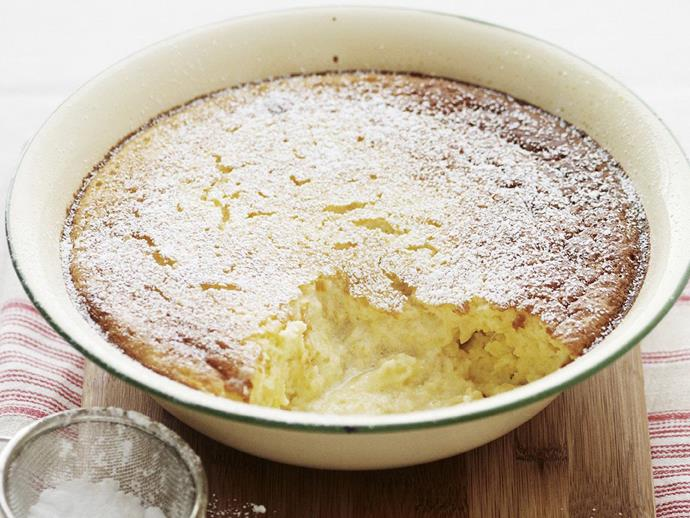 "**[Pineapple self-saucing pudding](https://www.womensweeklyfood.com.au/recipes/pineapple-self-saucing-pudding-4836|target=""_blank"")**"