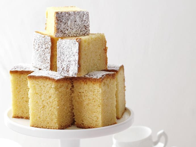 "Dusted with icing sugar, a [simple butter cake](https://www.womensweeklyfood.com.au/recipes/basic-butter-cake-11599|target=""_blank"") never fails to please."