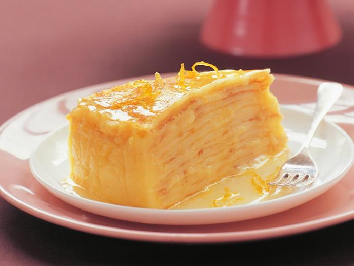 """This [lemon curd crepe cake](https://www.womensweeklyfood.com.au/recipes/lemon-curd-crepe-cake-15587
