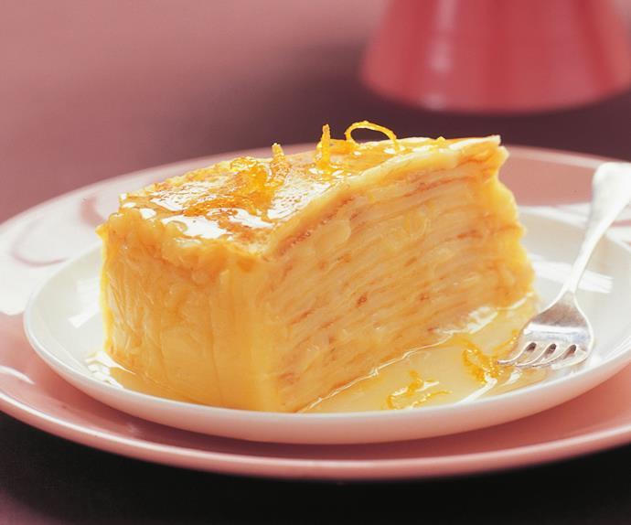 lemon curd crepe cake