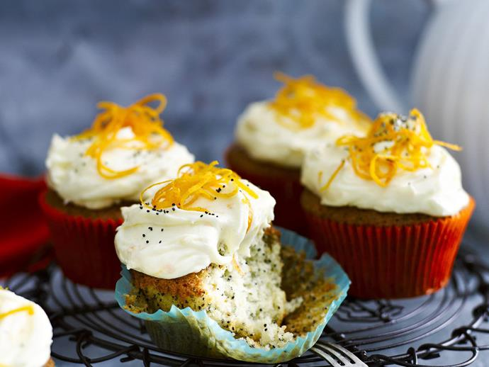 "[Poppy seed cupcakes with orange frosting](https://www.womensweeklyfood.com.au/recipes/poppy-seed-cupcakes-with-orange-frosting-4880|target=""_blank"")"