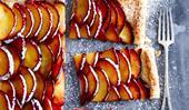 Quick and easy plum tart