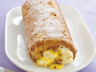 passionfruit sponge roll