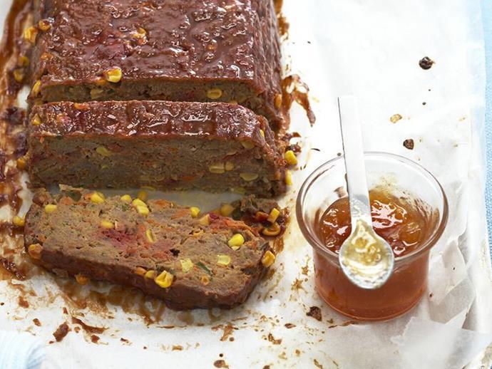 "**[Glazed meatloaf](https://www.womensweeklyfood.com.au/recipes/glazed-meatloaf-11247|target=""_blank"")**"