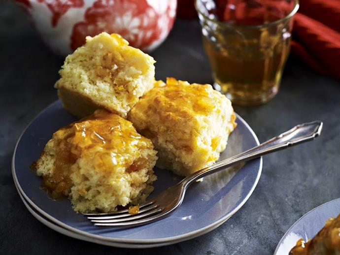 "**[Hot marmalade scones](https://www.womensweeklyfood.com.au/recipes/hot-marmalade-scones-11361|target=""_blank"")**  Brushed with a honey glaze, these citrusy scones are heavenly served straight out of the oven with a hot pot of tea waiting."