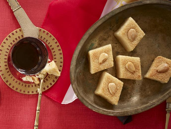 "**[Semolina slice](https://www.womensweeklyfood.com.au/recipes/semolina-slice-4736|target=""_blank"")**"