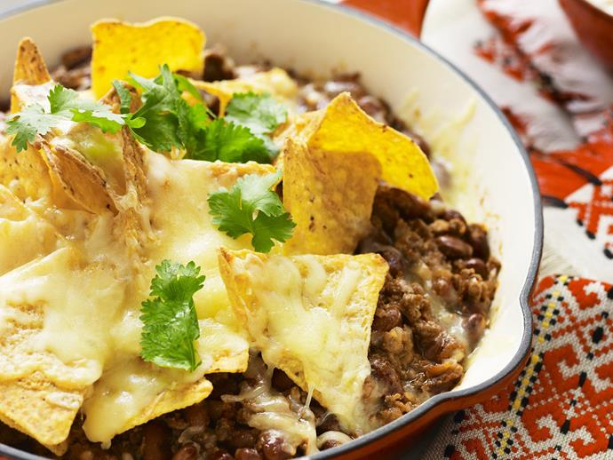 """**[Mexican bake](https://www.womensweeklyfood.com.au/recipes/mexican-bake-11004