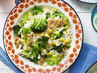 mixed vegetable stir-fried rice