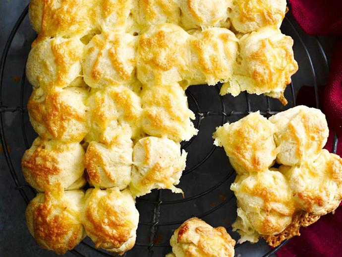 "**[American cheese scones](https://www.womensweeklyfood.com.au/recipes/american-cheese-scones-10623|target=""_blank"")**  These molten hot cheese scones are perfect for a hungry crowd."