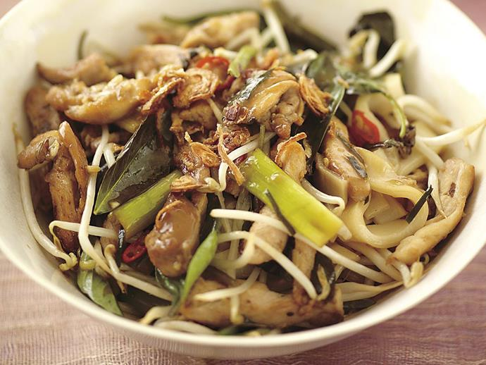 """This fragrant and delicious [chicken, noodle and kaffir lime stir-fry](https://www.womensweeklyfood.com.au/recipes/chicken-noodle-and-kaffir-lime-stir-fry-10683