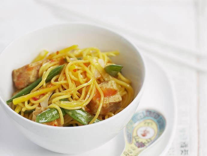 "Try it: [Five-spice tofu with egg noodles and lemon chilli sauce](http://www.foodtolove.com.au/recipes/five-spice-tofu-with-egg-noodles-and-lemon-chilli-sauce-23193|target=""_blank"")."