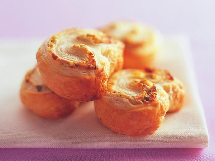 """**[Cream cheese and olive palmiers](https://www.womensweeklyfood.com.au/recipes/cream-cheese-and-olive-palmiers-10892
