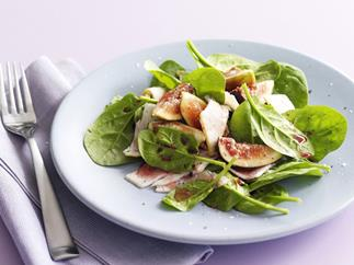 turkey, fig and spinach salad