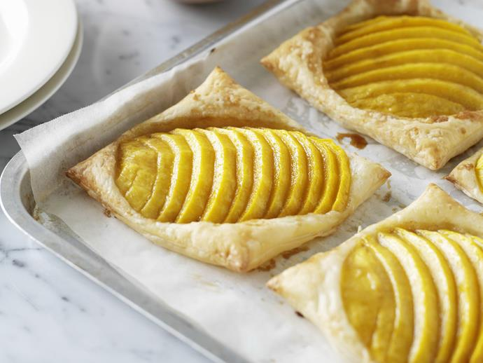 """**[Mango galettes with coconut cream](https://www.womensweeklyfood.com.au/recipes/mango-galettes-with-coconut-cream-10313