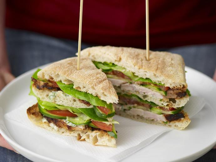 "**[Turkish chicken club sandwich](http://www.womensweeklyfood.com.au/recipes/turkish-chicken-club-sandwich-10382|target=""_blank""):** It's all about the refreshing coriander aioli in this classic sambo."