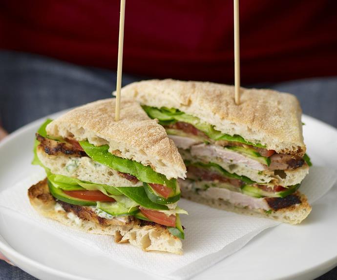 Turkish chicken club sandwich