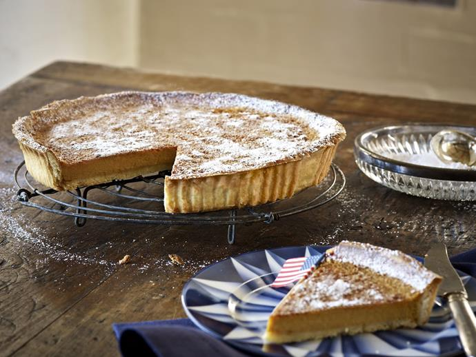 "**[Pumpkin pie](https://www.womensweeklyfood.com.au/recipes/pumpkin-pie-4057|target=""_blank"")**"