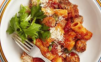 sausage meatball pasta