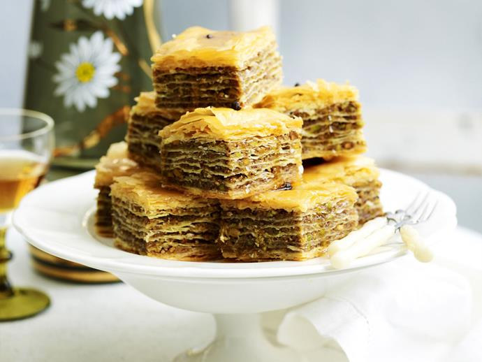 """[Baklava](https://www.womensweeklyfood.com.au/recipes/baklava-16596