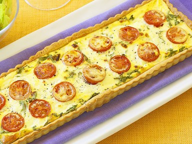 Tomato, rocket and ricotta tart