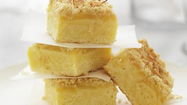 Coconut and pineapple slice