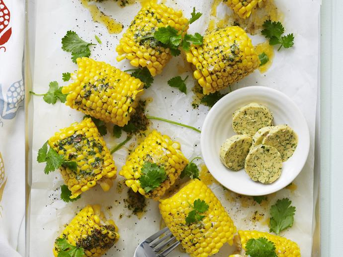 """[Mexican-style corn with spicy butter recipe.](http://www.foodtolove.com.au/recipes/mexican-corn-with-spicy-butter-24404 target=""""_blank"""")"""