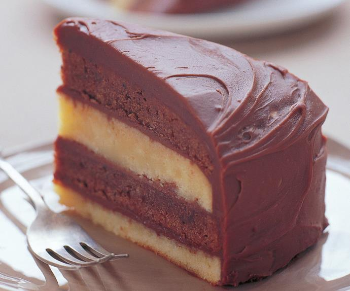 double-decker mud cake