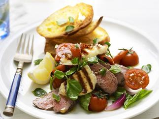 big greek lamb salad